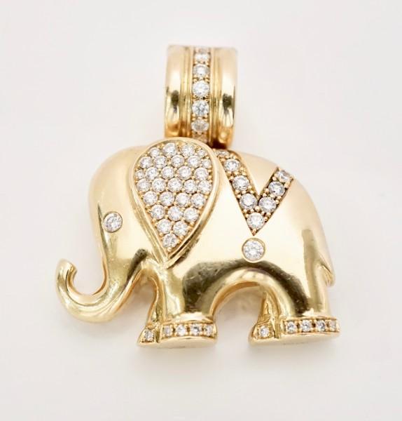 Brillantanhänger Elefant