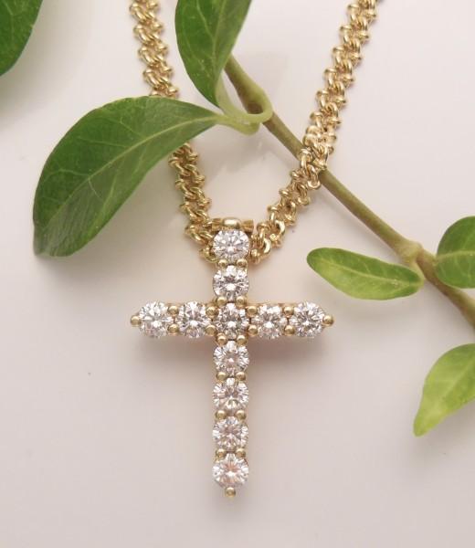 Anhänger Brillantkreuz Santa-Maria