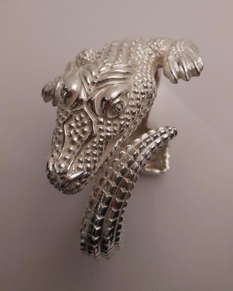 Silberarmreif Krokodil